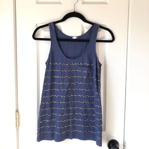 J. Crew Sequin Striped Pocket Tank - XS